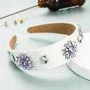 Baroque wreath headgear glass drill headband fashion solid color fabric headwear NHLN366255