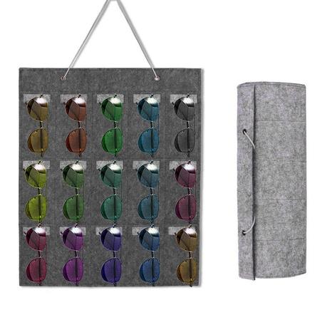 Gafas de sol caja de almacenamiento de almacenamiento bolsa colgante gafas bolsa de pared almacenamiento de joyas bolsa colgante NHWQ366978's discount tags