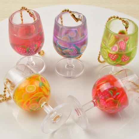 Mini vaso de jugo modelo de bricolaje juguete pequeño 4 CM llavero bolsa colgante NHWQ366972's discount tags