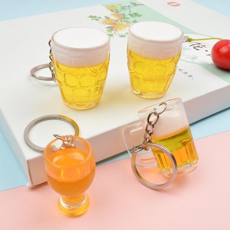 Simulación mini piña llavero de vaso de cerveza vaso de cerveza llavero de coche adornos de bolso NHWQ366973's discount tags