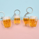 Simulation mini pineapple beer glass keychain beer glass car key chain bag ornaments NHWQ366973