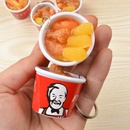 KFC Family Bucket PVC Soft Glue Pendant 4CM Keychain Simulation Food Model Wholesale NHWQ366971
