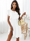 Fashion Solid color waist tieup dress NHJC366622