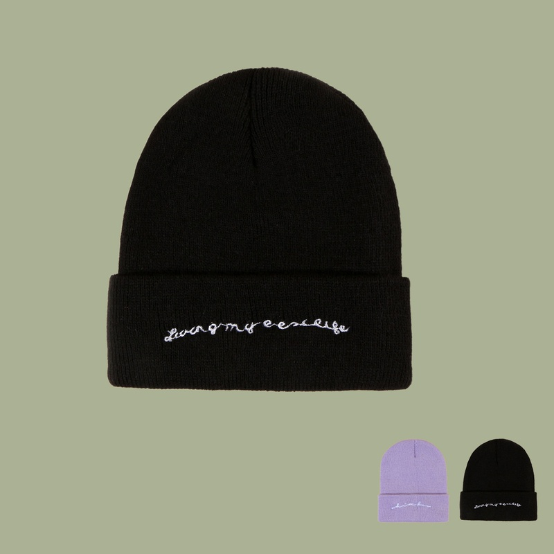 Korean style simple letter woolen knitted hat  NHTQ366314