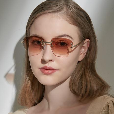 nostálgicas gafas de sol cuadradas pequeñas sin bordes NHXU366343's discount tags