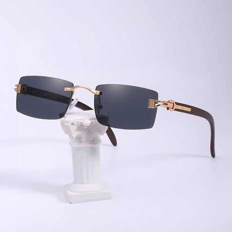 gafas de sol cuadradas sin montura de moda al por mayor NHLMO366350's discount tags