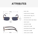 fashion rimless square sunglasses wholesale   NHLMO366350