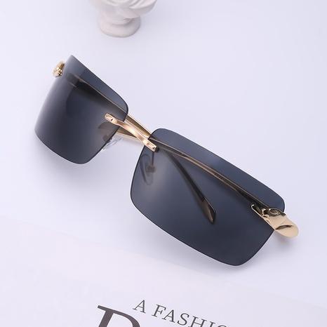 gafas de sol cuadradas de gran curvatura sin marco de moda NHLMO366356's discount tags