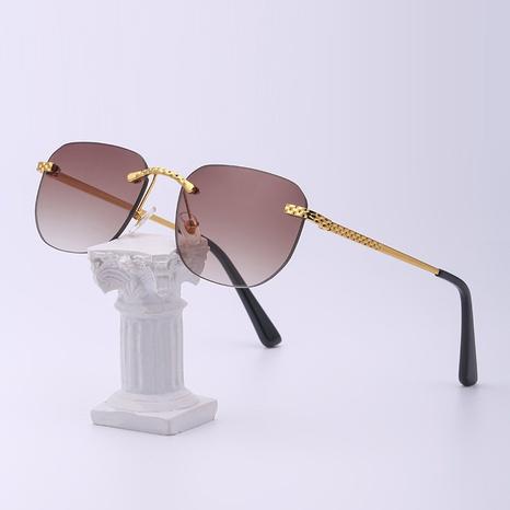 gafas de sol geométricas sin marco de metal de moda NHLMO366360's discount tags