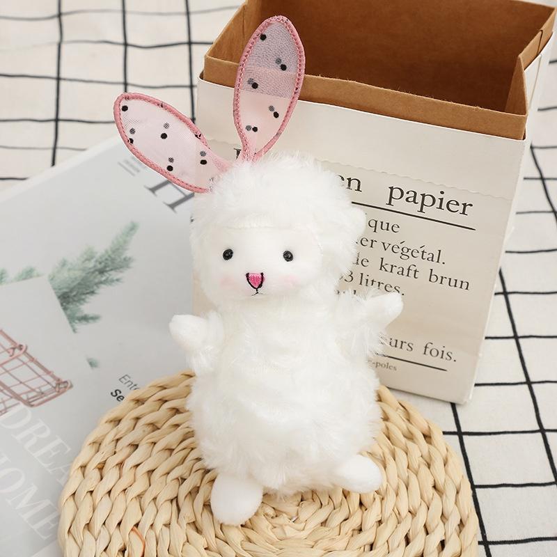 Cute plush bow lamb doll keychain  NHAE366392