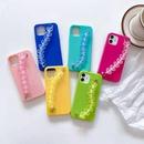 simple solid color heart bracelet mobile phone case NHKI366510