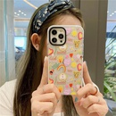 fashion illustration letter transparent mobile phone soft shell NHFI366549