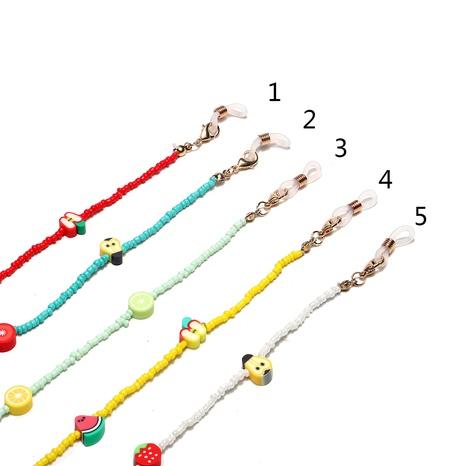 Mode weiche Tonfrucht mehrfarbige Reisperlengläserkette NHBC366636's discount tags