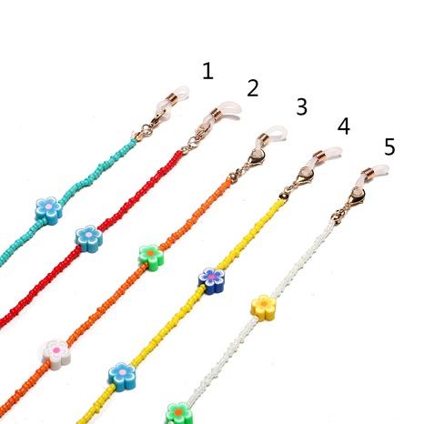 Mode weiche keramische Blume mehrfarbige Reisperlen-Gläserkette NHBC366638's discount tags