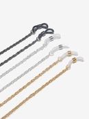 Simple threepiece twist black gold silver glasses  NHBC366640