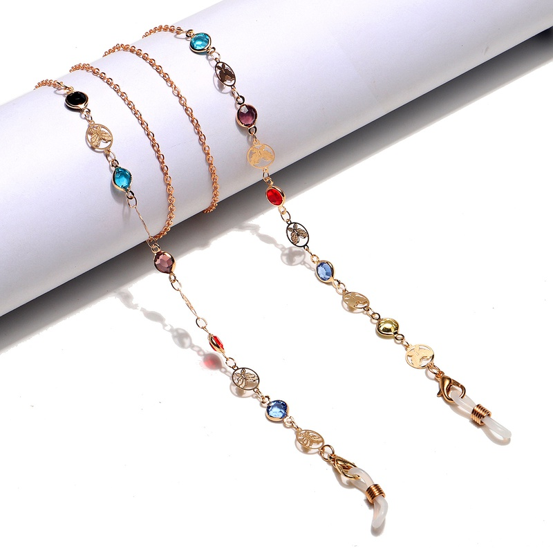 fashion butterfly colorful glasses chain  NHBC366646