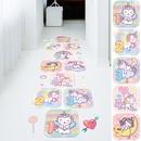 cartoon cute unicorn hopscotch childrens room wall sticker NHAF366693
