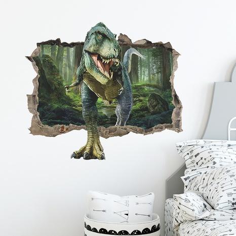 nouveaux autocollants muraux de dinosaure de trou de sens 3D de mode NHAF366699's discount tags