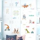 cartoon animal bicycle games decorative wall stickers NHAF366704
