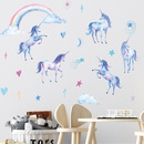 cartoon rainbow unicorn bedroom porch living room wall decorative wall stickers NHAF366708