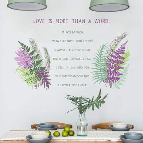 nouveau slogan anglais plantes vertes stickers muraux décoratifs NHAF366710's discount tags