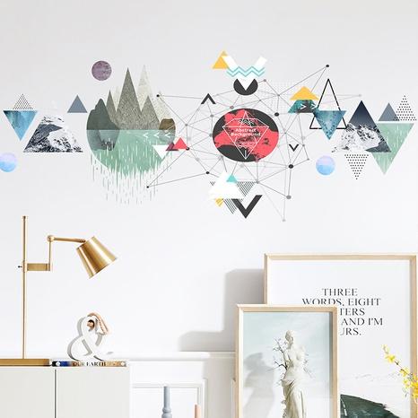 nouveaux autocollants muraux décoratifs de carte de peinture géométrique NHAF366711's discount tags