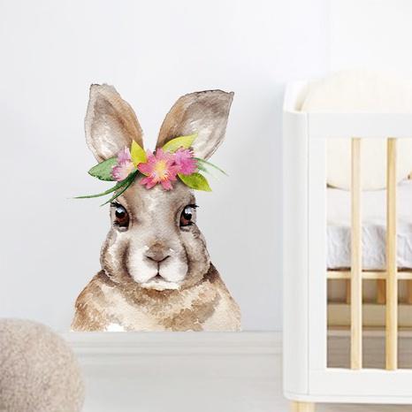 nouveau lapin de dessin animé portant une couronne stickers muraux décoratifs NHAF366713's discount tags