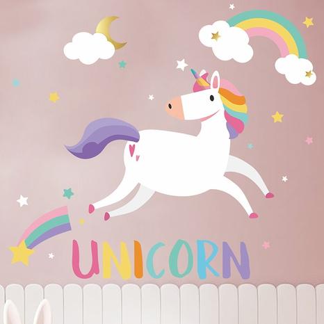 Stickers muraux décoratifs pour chambre d'enfant licorne arc-en-ciel NHAF366720's discount tags