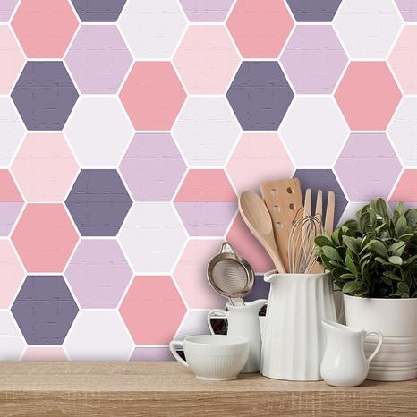 stickers muraux de décoration simple en treillis rose NHAF366725's discount tags