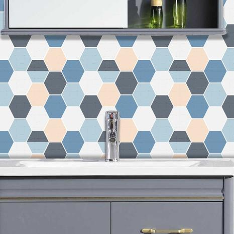 stickers muraux de décoration en treillis bleu café à la mode NHAF366726's discount tags