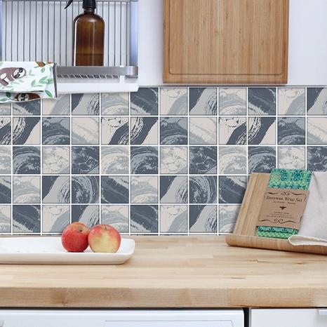 stickers muraux simples de décoration de carreaux de treillis gris NHAF366729's discount tags