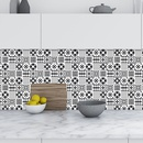 fashion contrast color geometric tile decoration wall stickers NHAF366749
