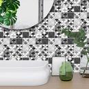 fashion black gray lattice tile wall floor decoration stickers NHAF366752