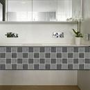 fashion contrast color crack lattice tile floor wall decoration stickers NHAF366755