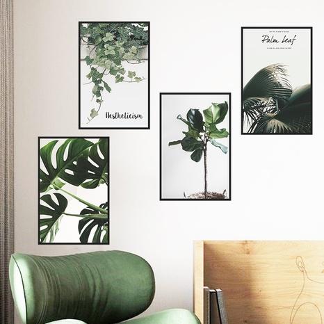 Nouvelle plante verte tropicale laisse des autocollants muraux pour cadre photo rectangulaire plat NHAF366758's discount tags