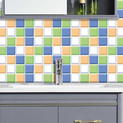 autocollants muraux de carreaux de treillis carré de couleur contrastée à la mode NHAF366767's discount tags