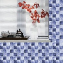 fashion rendering purple lattice tile decoration wall stickers NHAF366777