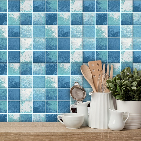 autocollants muraux simples en tuile de treillis bleu clair profond NHAF366782's discount tags