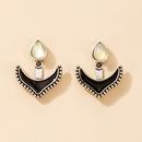punk black fish hook anchor alloy earrings wholesale  NHGY368692