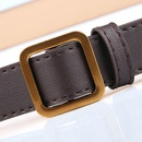 simple gold square buckle nonporous soft thin belt   NHJN366875