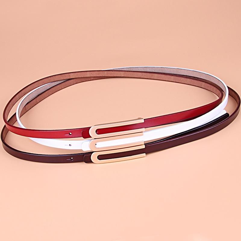 Korean style simple pure cowhide belt  NHJN366885