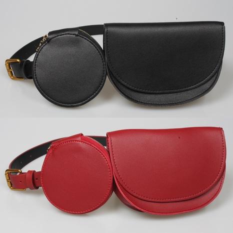 Mode-Reißverschluss runder Dekoration Halbkreis Mini-Taschengürtel NHJSR366891's discount tags