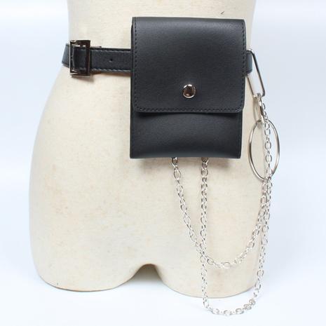 estilo punk retro mini bolso de cintura pequeño desmontable cinturón de PU fino decorativo NHJSR366893's discount tags
