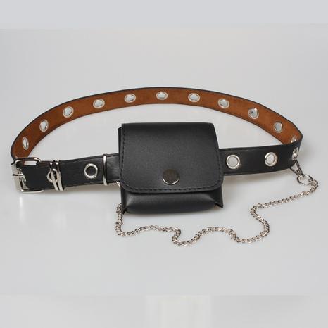 Mode hohles Auge abnehmbare Kette Mini quadratische Tasche dekorativer Gürtel NHJSR366894's discount tags