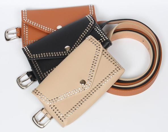cinturón fino de decoración de bolso de cintura de remache retro NHJSR366897's discount tags