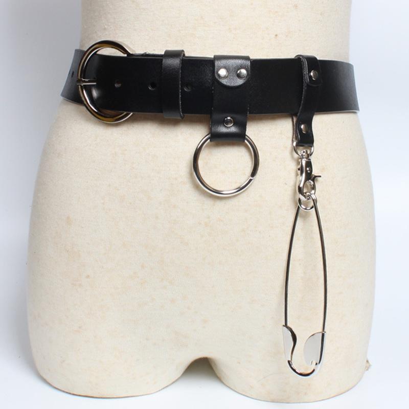 Fashion casual pin buckle coat pants wide waist belt   NHJSR366908