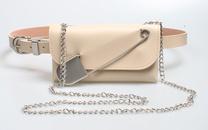 punk style chain pin waist bag decor belt  NHJSR366909