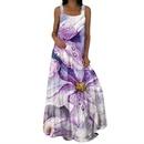 Fashion Sleeveless Printed Backless Dress NHUO368901