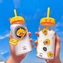 cartoon duck glass straw water cup  NHtn366684
