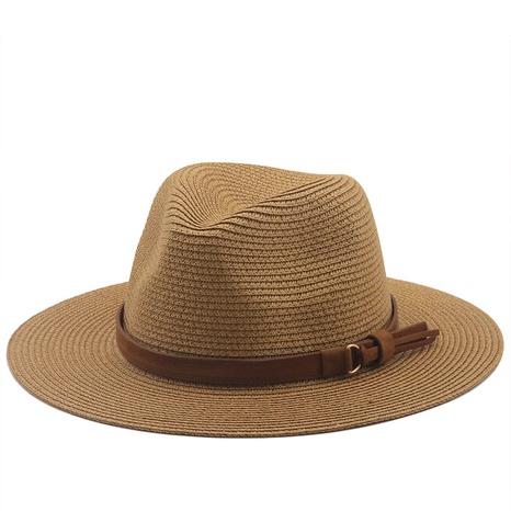 simple sombrero de paja de vaquero de protección solar sombrilla NHXV366919's discount tags